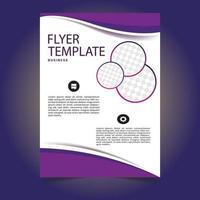 lila färg flygblad mall design vektor