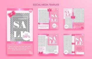 sociala medier mall eller affisch vektor