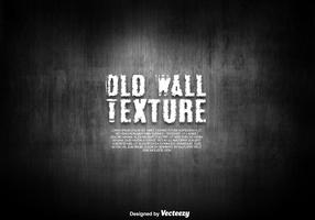 Gamla mörka Wall Texture - Vector