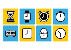 Timer-Icon-Set vektor