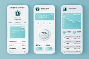 Online-Banking, einzigartiges neomorphes Design-Kit vektor