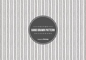 Nette Hand gezeichnete Art-Muster-Hintergrund