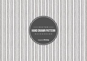 Söt handritad stil mönster bakgrund vektor