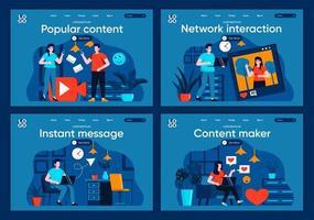 Instant Messaging, flache Zielseiten festgelegt