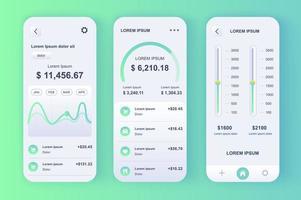 Smart Finance Manager, neomorphes Design-Kit vektor