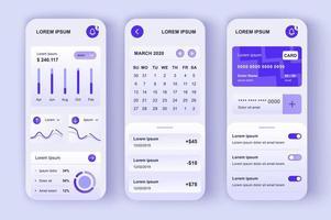 Finanzmanager, einzigartiges neomorphes Design-Kit vektor