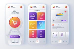 online shopping, unikt neomorf design kit