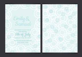 Vector Pastell Wedding Invitation