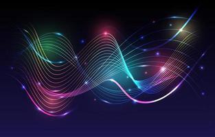 eine Welle des abstrakten Neonspektrumhintergrunds vektor