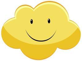 glückliche smiley gelbe Wolke vektor