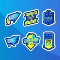 cyber måndag klistermärke pack