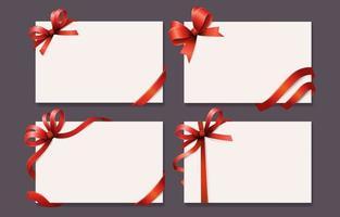 Satz Geschenkkarten
