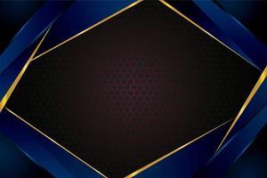 mörkblå guldbakgrund med bikakemask vektor