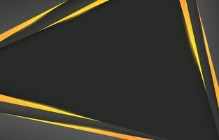 abstrakter schwarzer Rahmenhintergrund mit goldenem Akzent vektor
