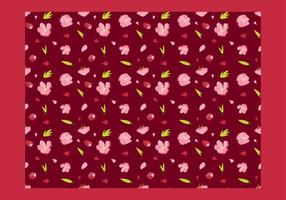 Peach Blossom Seamless Pater Free Vector