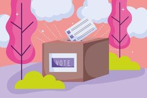 Wahlurne vektor