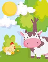 süße Tiere auf einem Bauernhof