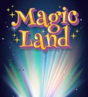 affischdesign med magiskt ord och starkt ljus i bakgrunden vektor