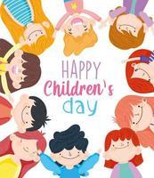 lycklig barns dag firande vektor