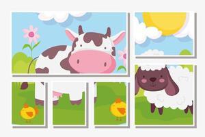niedliche Bauernhoftierkarten