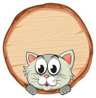 leere Zeichenvorlage mit niedlicher Katze auf weißem Hintergrund vektor