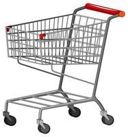 ein Einkaufswagen auf weißem Hintergrund vektor
