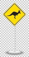 känguru korsning tecken isolerad på transparent bakgrund
