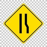 gul trafik varningsskylt på transparent bakgrund vektor