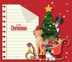 Tom jul anteckningsmall