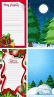 bakgrundsmallar med jultema vektor
