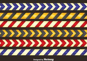 Farbige Danger Tape Collection Vektor