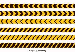 Gelb und Schwarz Danger Tape Collection Vektor