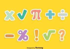 Färgade Math Symbol Vector