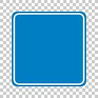 blå trafikskylt på transparent bakgrund