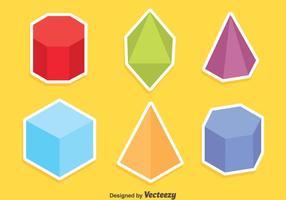 Färgade geometriska former Vector