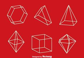 3d Geometrische Formen Zeile Vektor