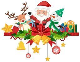 isolierte Weihnachtsglocken und Band zur Dekoration vektor