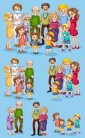 Satz von Familienmitgliedern vektor