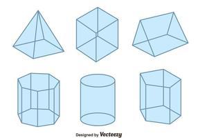 3D geometriska former vektor