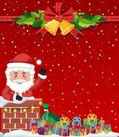 god jul med santa bakgrund