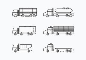 Camion Collection Set vektor