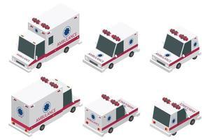 isometrischer Krankenwagensatz