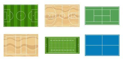 sportfält set ovanifrån vektor