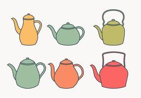 Teekanne Sammlung vektor