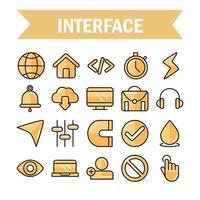 gränssnitt, digital och webbteknikuppsättning vektor