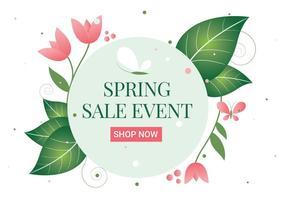 Freier Frühlings-Blumen-Kranz-Hintergrund