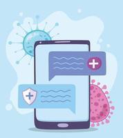 online medicinsk vård i telefon vektor