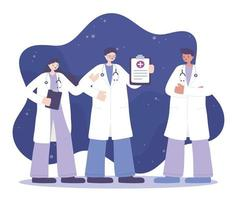 medicinsk personal professionellt team vektor