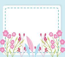 niedliche Blumenkartenschablone