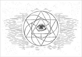 Gratis sakral geometri Vector Illustration